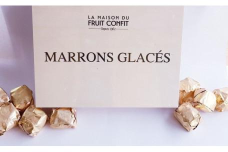Marrons glacés 8 pièces en coffret bois