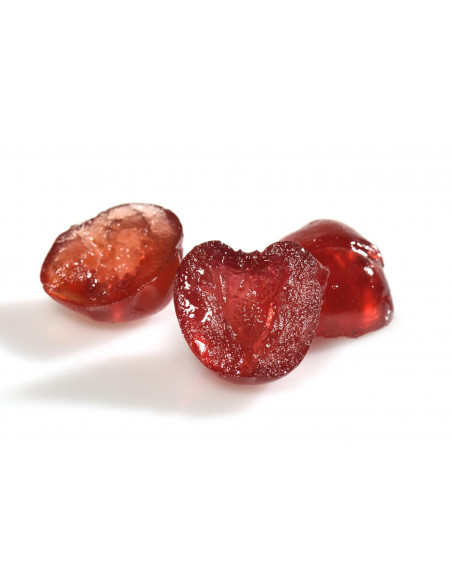 Half cherries Bigarreaux candied red cardboard 5 kg