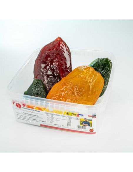 Tranches de melons tricolores confits 1 kg