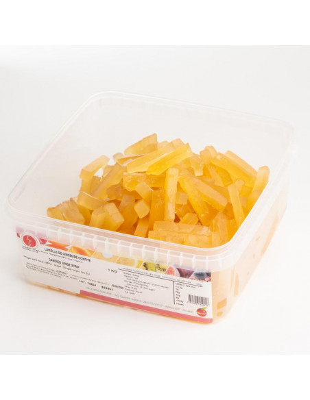 Candied Ginger Strips 1 Kg