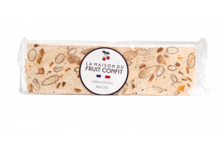 Nougat bar with almonds and candied citrus fruit 100g