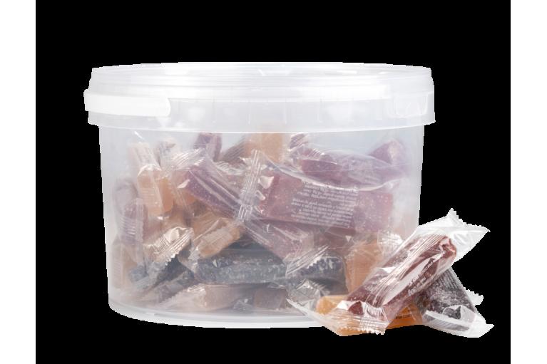 Bucket of Sugar Coated Fruit Jellies