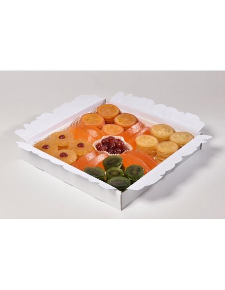 Plateau de fruits confits tranches glacées 2500 g