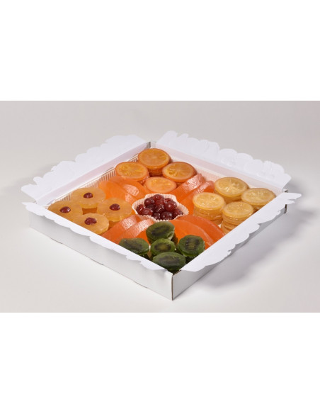 Tray with Slices of Assorted Iced Candied Fruits 2500 g