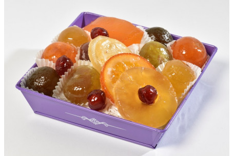 Purple Box of candied fruit 300g