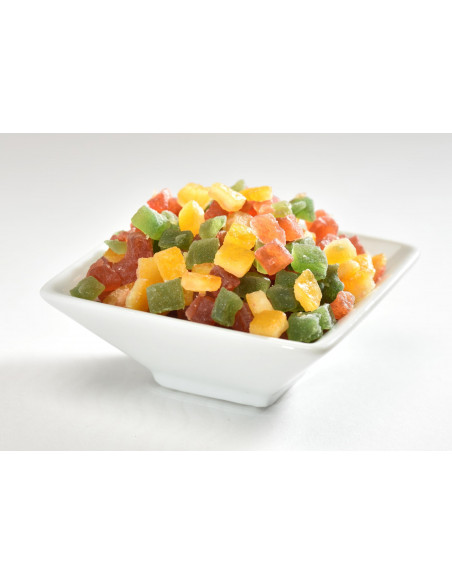 Candied Mixed Fruit Cubes 5 Kg