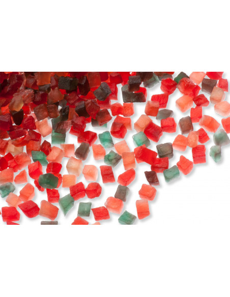 Cubes de papaye tricolores (6mm) 5 Kg