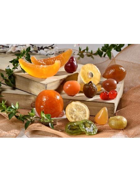Compositions of glazed fruits